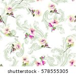 pattern with small spring... | Shutterstock .eps vector #578555305