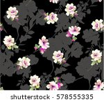 pattern with  small spring... | Shutterstock .eps vector #578555335