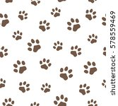pattern of traces of animals.... | Shutterstock .eps vector #578559469