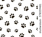 pattern of traces of animals.... | Shutterstock .eps vector #578559481