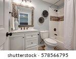 lovely white bathroom design... | Shutterstock . vector #578566795