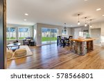 open floor plan interior with... | Shutterstock . vector #578566801