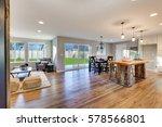 open floor plan interior with... | Shutterstock . vector #578566801
