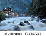 aguas calientes in machu picchu ... | Shutterstock . vector #578567299