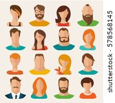 set of flat vector characters.... | Shutterstock .eps vector #578568145