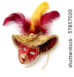 red carnival mask. isolated...