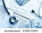 health insurance application...   Shutterstock . vector #578572399