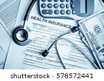 health insurance application... | Shutterstock . vector #578572441