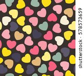 seamless pattern with hearts.... | Shutterstock .eps vector #578573659