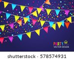 Multicolored Hanging Garlands....