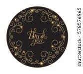elegant gold vintage vignette... | Shutterstock .eps vector #578576965