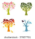 four seasons of love | Shutterstock .eps vector #57857701
