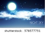 magic night sky background.... | Shutterstock .eps vector #578577751