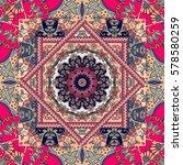 unique bandana print. lovely... | Shutterstock . vector #578580259