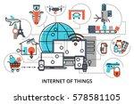 modern flat line design vector... | Shutterstock .eps vector #578581105