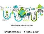 modern flat thin line design... | Shutterstock .eps vector #578581204