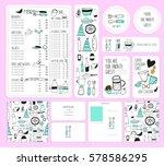 vector restaurant brochure ...   Shutterstock .eps vector #578586295