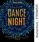 dance night  poster template.... | Shutterstock .eps vector #578588935