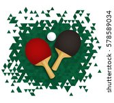table tennis banner. two ping... | Shutterstock .eps vector #578589034