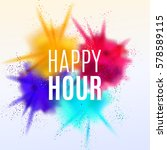 happy hour background. vector... | Shutterstock .eps vector #578589115