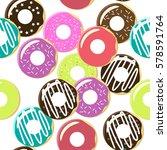 seamless pattern. vector.... | Shutterstock .eps vector #578591764