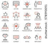 vector set of linear icons... | Shutterstock .eps vector #578593051