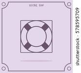 lifebuoy vector icon.   Shutterstock .eps vector #578595709
