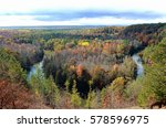 Small photo of Manistee river high bank rollaway/Michigan horse shoe/autumn in Michigan