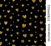 black seamless pattern with... | Shutterstock .eps vector #578599021