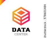 big data cube and technology... | Shutterstock .eps vector #578601484