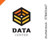 big data cube and technology... | Shutterstock .eps vector #578601667