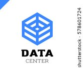 big data cube and technology... | Shutterstock .eps vector #578601724
