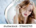 portrait of gorgeous young... | Shutterstock . vector #578602705