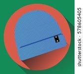 vector blue knitted...   Shutterstock .eps vector #578605405