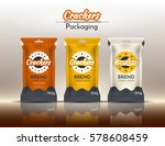 packing for crackers  chips.... | Shutterstock .eps vector #578608459