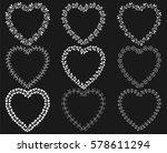 white wreath frames in the...   Shutterstock .eps vector #578611294