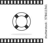 lifebuoy vector icon.   Shutterstock .eps vector #578611561