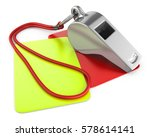 3d illustration of whistle and... | Shutterstock . vector #578614141