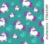 seamless pattern with hearts... | Shutterstock .eps vector #578614189