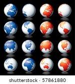 vector globe | Shutterstock .eps vector #57861880