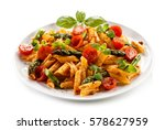 pasta with meat  tomato sauce... | Shutterstock . vector #578627959