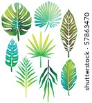 green leaves | Shutterstock .eps vector #57863470