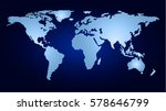 smart map of the world template.... | Shutterstock .eps vector #578646799