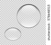 water drop. glass sphere.... | Shutterstock .eps vector #578648515