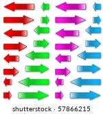 colorful vector arrows | Shutterstock .eps vector #57866215