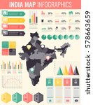 india map with infographic... | Shutterstock .eps vector #578663659