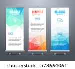 banner stand design template... | Shutterstock .eps vector #578664061