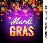 vector mardi gras carnival...   Shutterstock .eps vector #578664181