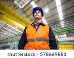 worker in a industrial site | Shutterstock . vector #578669881