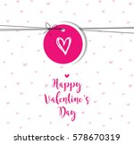 valentine's card with copy... | Shutterstock .eps vector #578670319